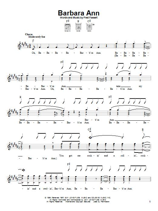 Barbara Ann (Easy Guitar)