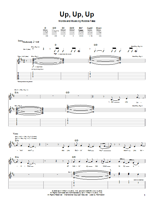 Up, Up, Up Sheet Music