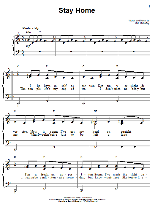 Stay Home Sheet Music