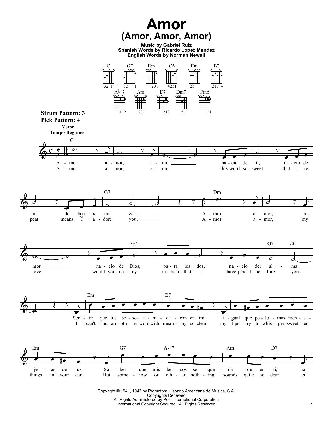 Amor (Amor, Amor, Amor) Sheet Music