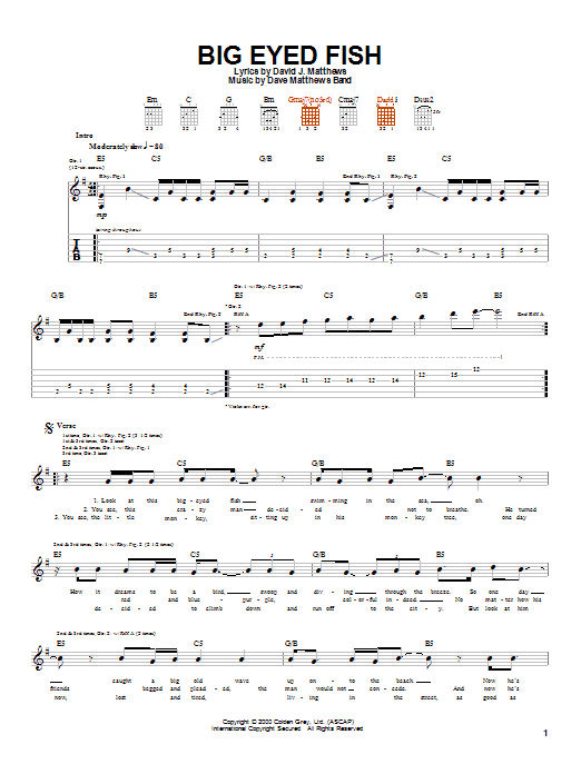 Big Eyed Fish (Guitar Tab)