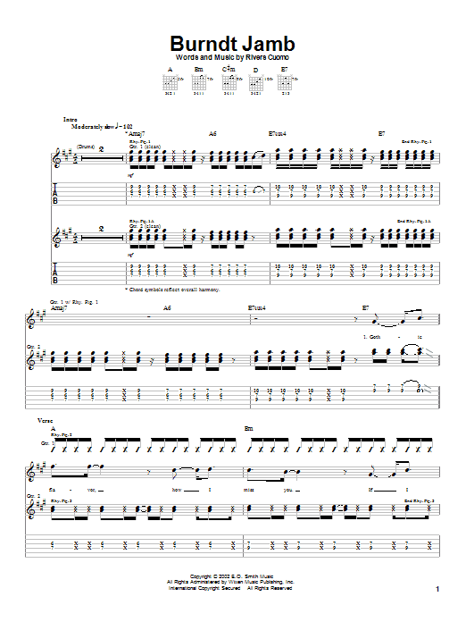 Burndt Jamb (Guitar Tab)