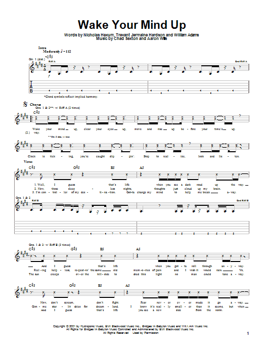Wake Your Mind Up (Guitar Tab)