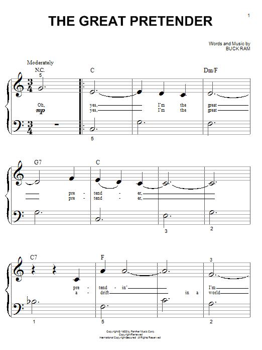 Partition piano The Great Pretender de The Platters - Autre