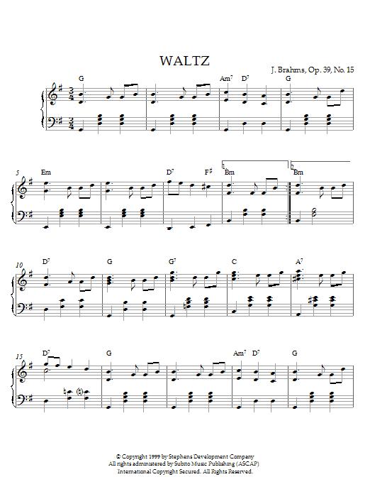Waltz In G Major, Op. 39, No. 15 (Piano Solo)