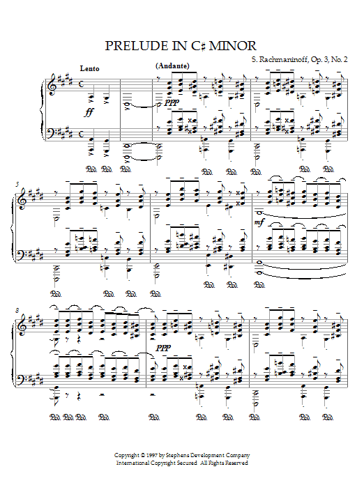 Prelude in C# Minor, Op.3, No.2 Sheet Music