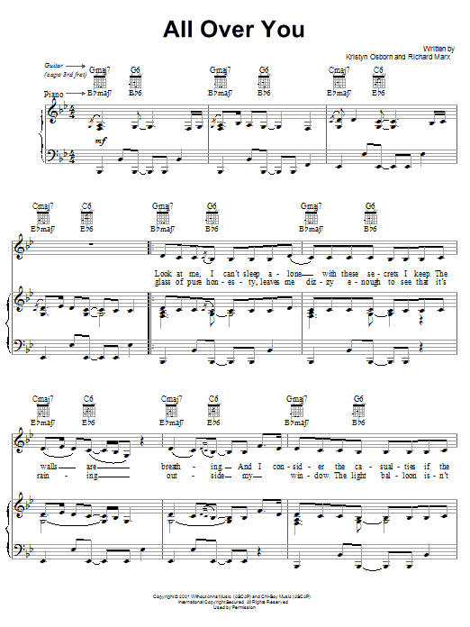 All Over You Sheet Music