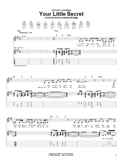 Your Little Secret Sheet Music
