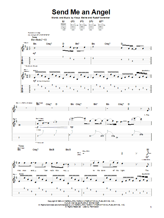 Send Me An Angel (Guitar Tab)