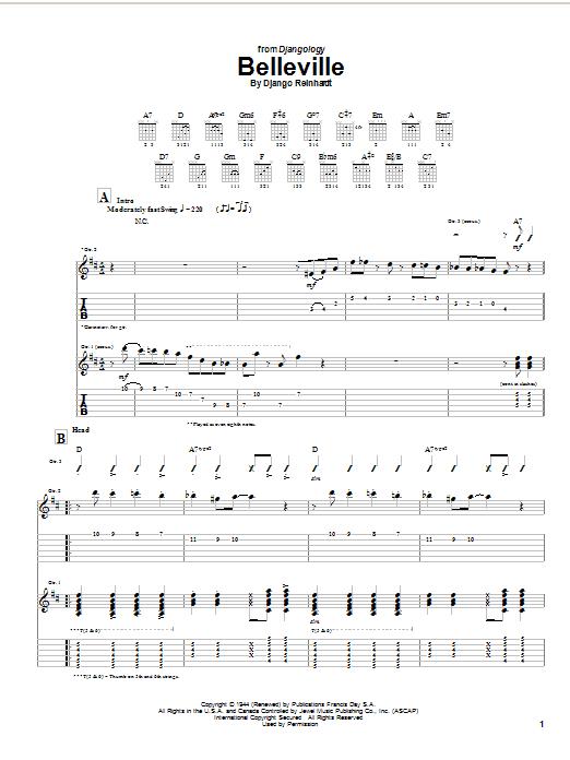 Belleville (Guitar Tab)