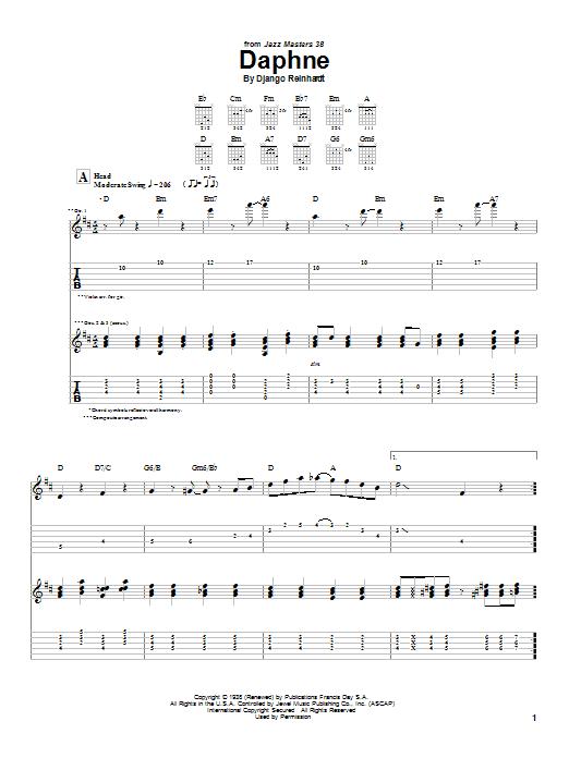 Daphne Sheet Music