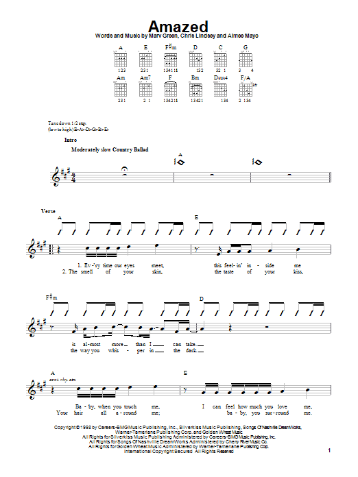 Amazed (Easy Guitar)