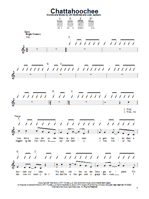 Chattahoochee Sheet Music
