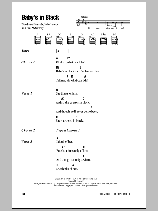 The Beatles Guitar Chord Songbook - A-I Sheet Music by No Composer ...