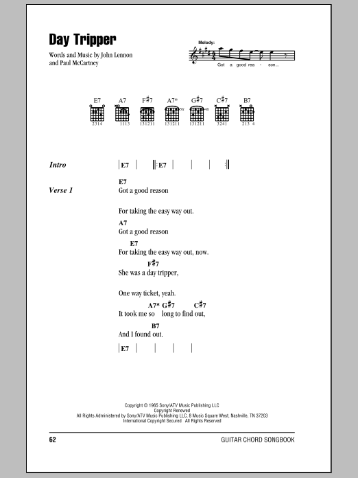 Day Tripper Sheet Music