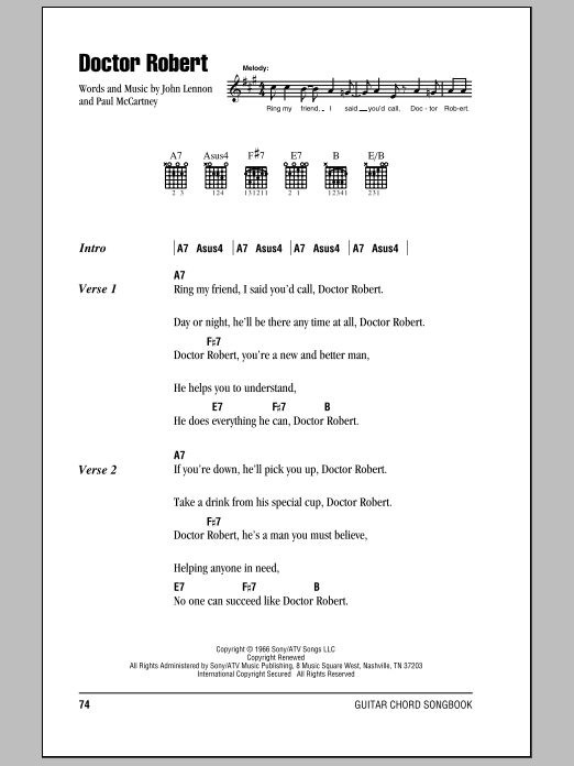 Doctor Robert Sheet Music