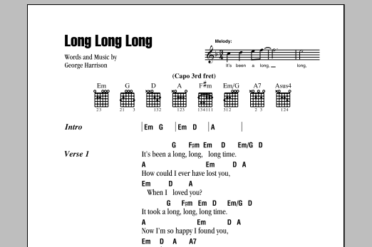 Long Long Long Sheet Music