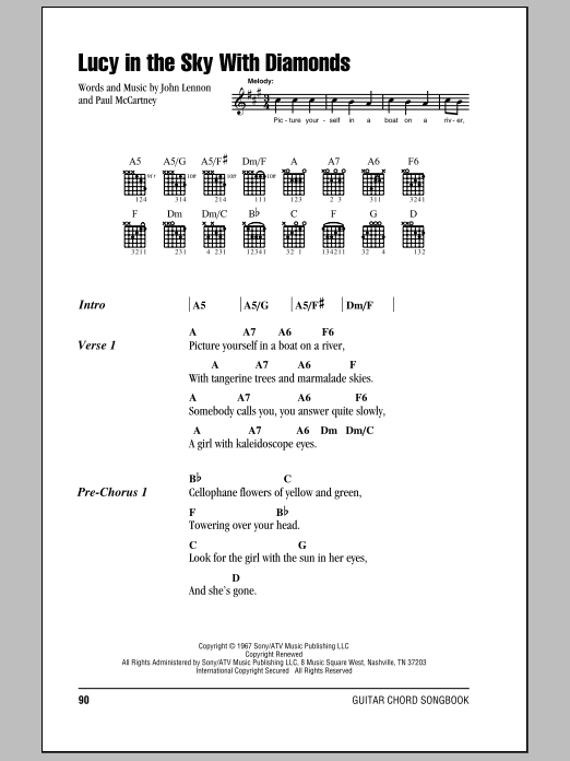 The Beatles Guitar Chord Songbook - J-Y Sheet Music by No Composer ...