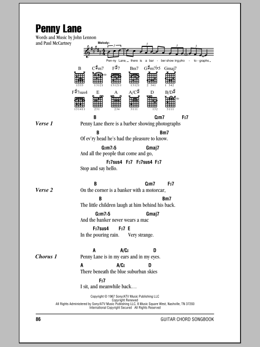 Penny Lane Sheet Music