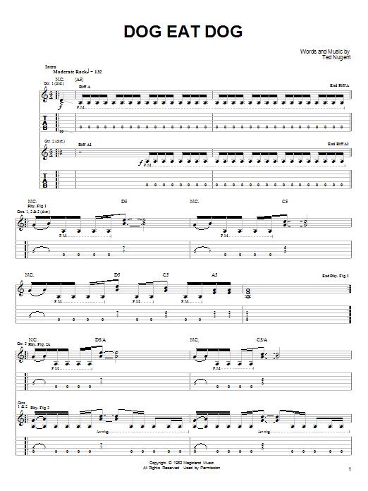Dog Eat Dog (Guitar Tab)