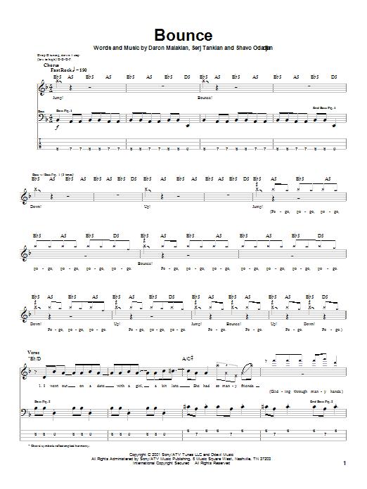 Bounce (Bass Guitar Tab)