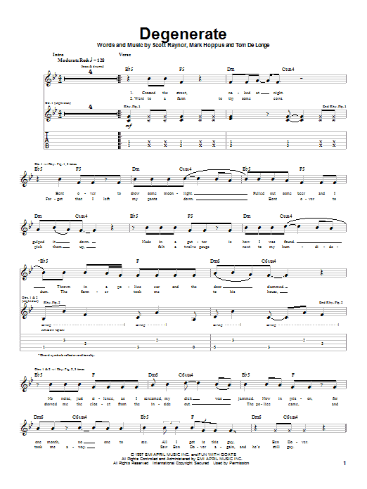 Degenerate Sheet Music