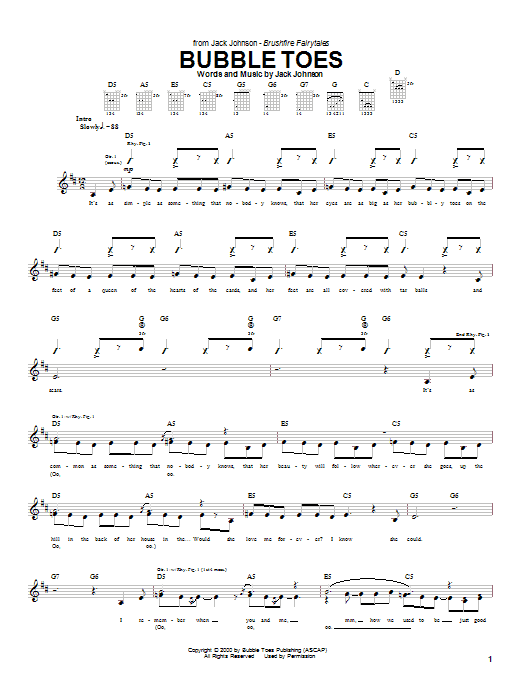 Bubble Toes (Guitar Tab)