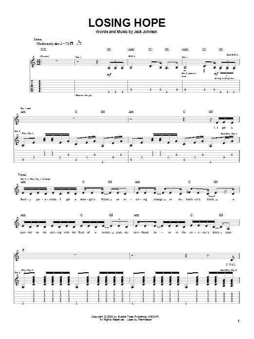 Losing Hope (Guitar Tab)