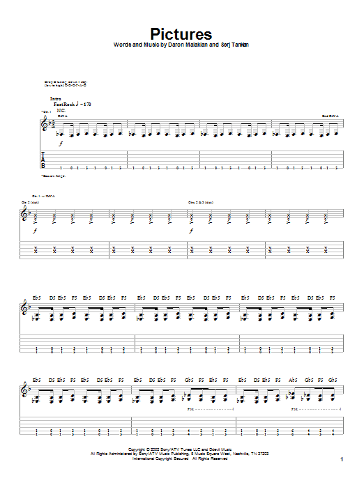 Pictures (Guitar Tab)