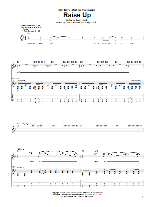 Raise Up (Guitar Tab)