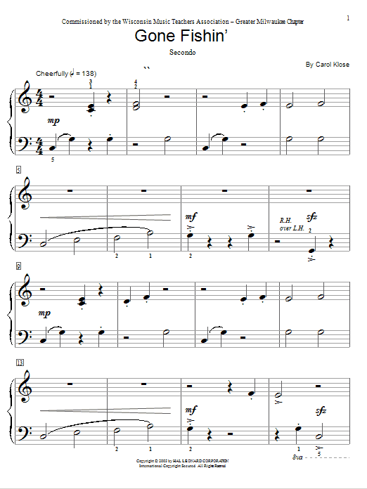 Gone Fishin' Sheet Music