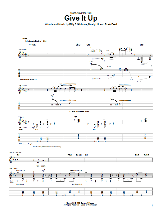 Give It Up (Guitar Tab)