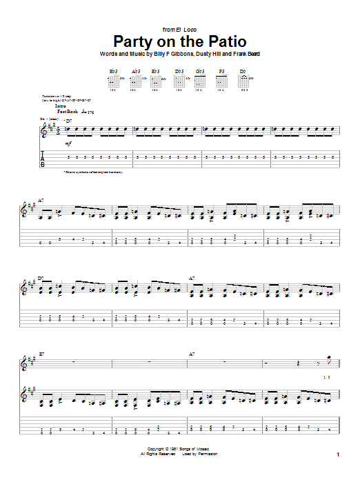 Party On The Patio (Guitar Tab)