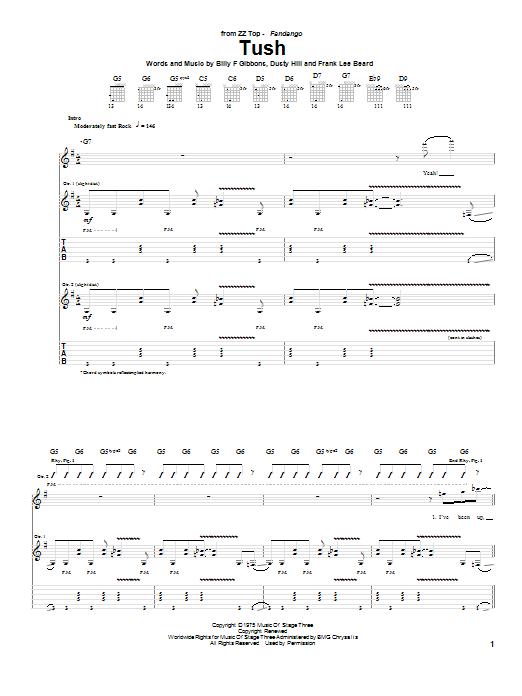 Tush Sheet Music
