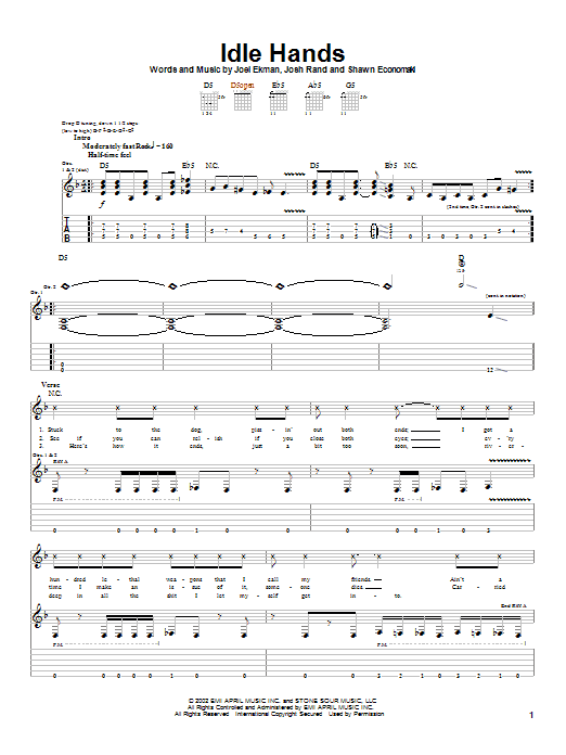 Idle Hands Sheet Music
