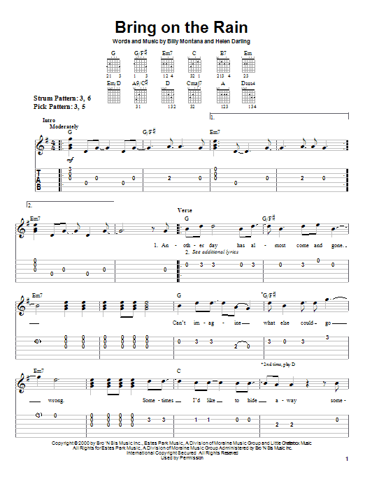 Bring On The Rain by Jo Dee Messina - Easy Guitar Tab - Guitar ...