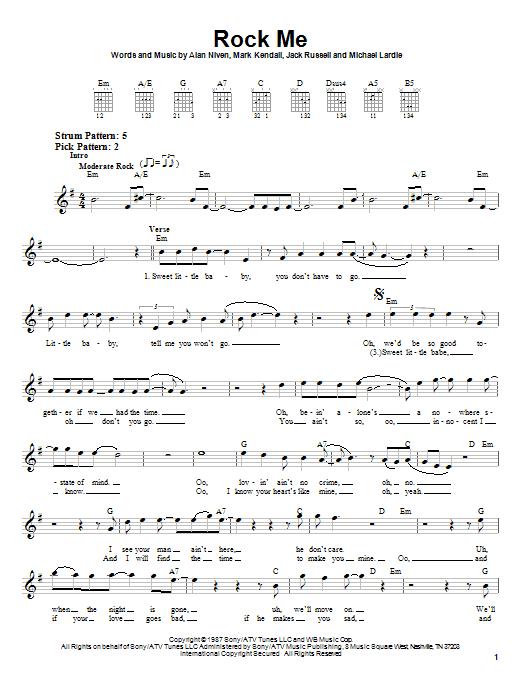 Rock Me (Easy Guitar)