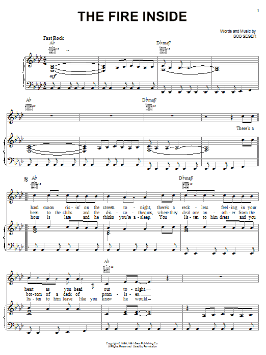 The Fire Inside (Piano, Vocal & Guitar (Right-Hand Melody))