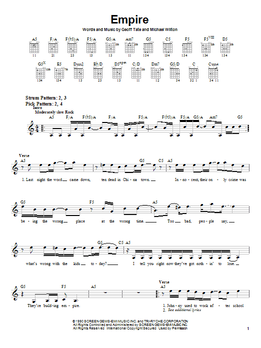 Empire (Easy Guitar)
