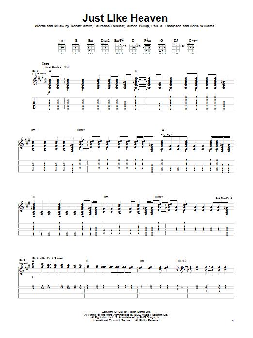 Just Like Heaven (Guitar Tab)