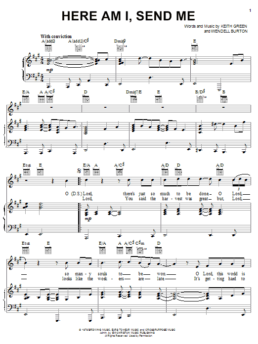 Here Am I, Send Me | Sheet Music Direct