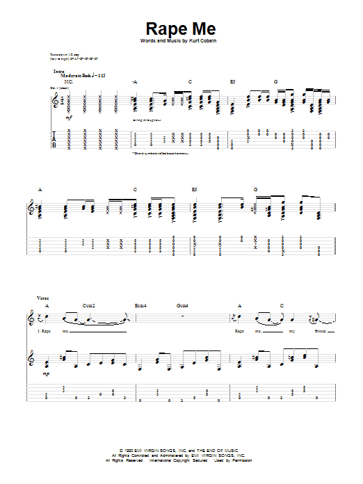 Rape Me (Guitar Tab)