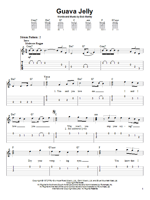 Guava Jelly (Easy Guitar Tab)
