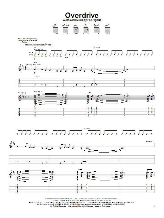 Overdrive Sheet Music