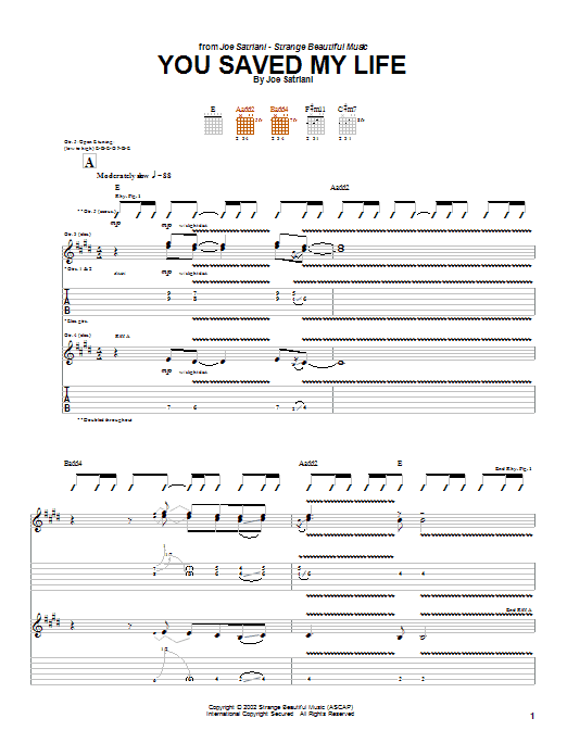 You Saved My Life Sheet Music