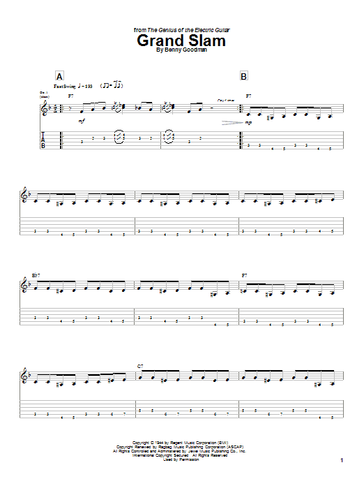 Grand Slam (Guitar Tab)