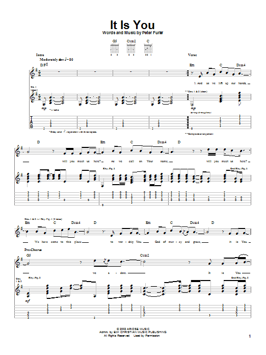 It Is You (Guitar Tab)