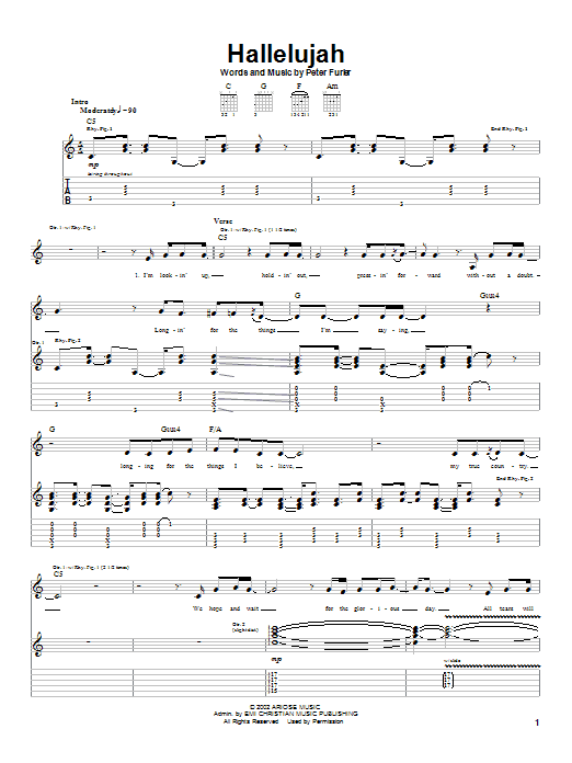 Hallelujah Sheet Music | Newsboys | Guitar Tab