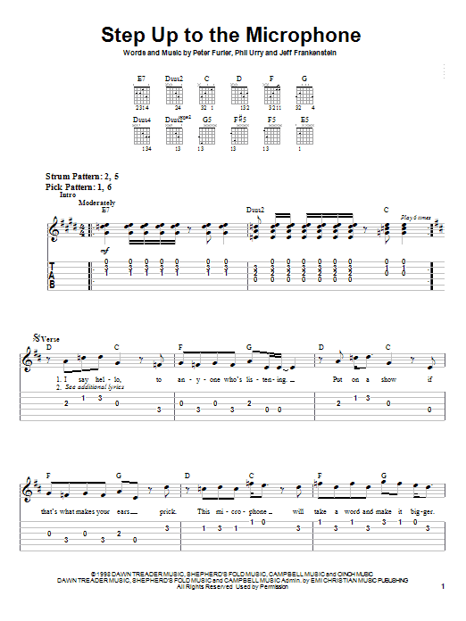 Step Up To The Microphone (Easy Guitar Tab)