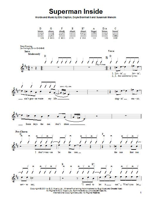 Tablature guitare Superman Inside de Eric Clapton - Autre